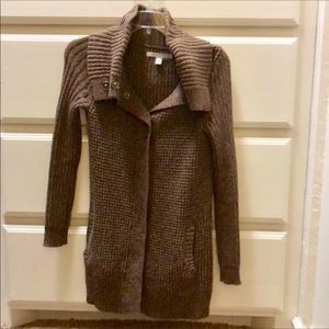 Old Navy Brown Cardigan Sweater W/Snap Closure